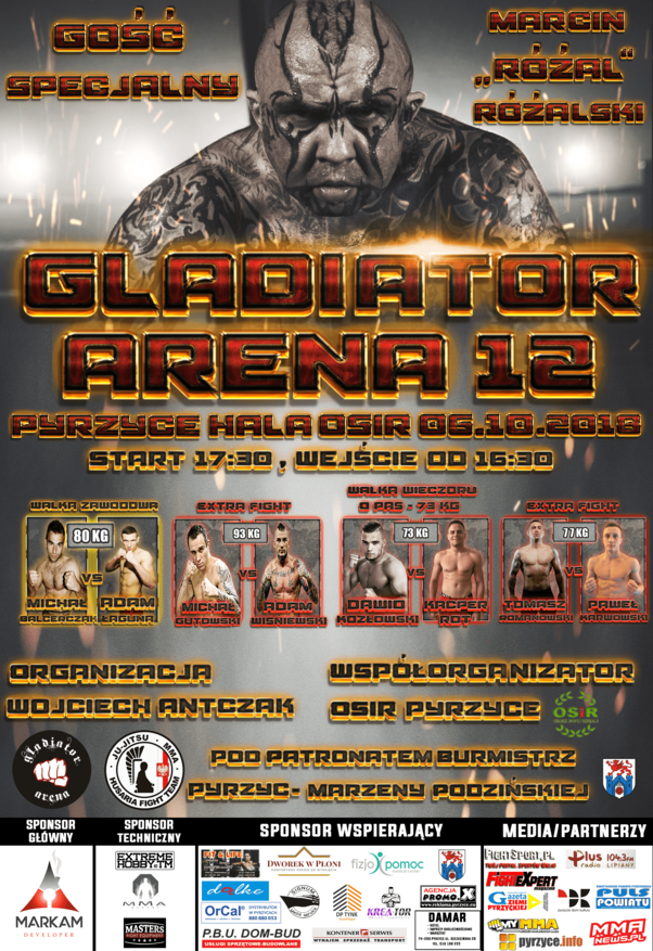 Ważenie przed Gladiator Arena 12