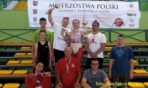 Dyszkiewicz i Staszak z medalami MP juniorek w sumo