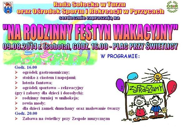 Rodzinny Festyn Wakacyjny w Turzu